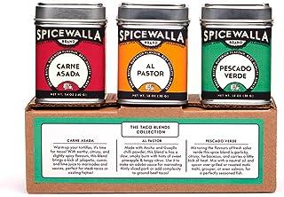 Spicewalla Taco Seasoning 3 Pack Collection   Carne Asada, Al Pastor, Pescado Verde   Non-GMO, No MSG, Gluten Free