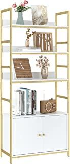 Industrial Bookcase with 2 Cabinets, 31L x 11.8W x 70.8H...