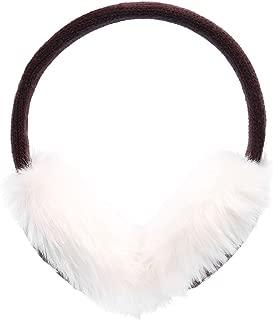 Women's Winter Knitted Faux Fur Plush Earmuffs w/Lined Trim