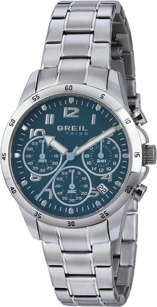 Breil orologio cronografo per uomo in lega di acciaio EW0378