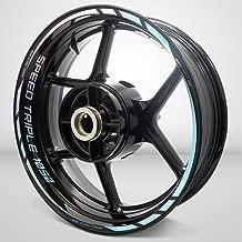 2 Tone Amethyst Motorcycle Rim Wheel Accessory Sticker For Triumph Speed Triple