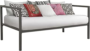 DHP Tribeca Modern Metal Daybed Frame, Sofa Bed, Twin Size, Gray