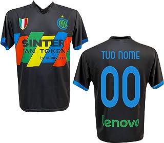 F.C. Inter Maglia Replica Calcio Third Nera Ufficiale Autorizzata Personalizzata Personalizzabile 2020 CALHANOGLU Correa Z...