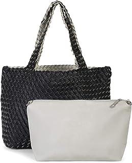 d8044c308c styleBREAKER borsa reversibile XXL con trama intrecciata, borsa da  shopping, 2 borse, set
