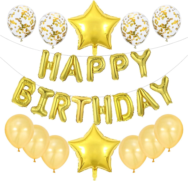 Ranking TOP5 LOUQINGDZ Balloons 25pcs Large discharge sale Set Birthday Foil Happy