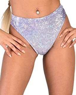 iHeartRaves Women's High Cut High Waisted Booty Shorts Bottoms