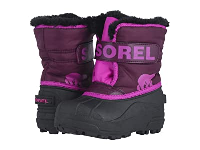 SOREL Kids Snow Commander (Toddler/Little Kid) (Purple Dahlia/Groovy Pink) Girls Shoes