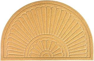 MIBAO Half Round Door Mat, Rubber Doormats Welcome Entrance Way Rug, Heavy Duty Semicircle Door mats, Non-Slip Durable Low...