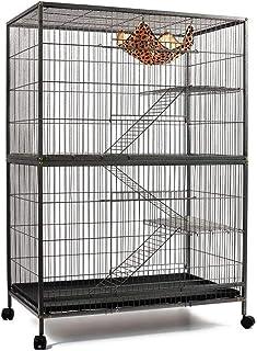 140cm 4 Level Bird Ferret Parrot Cage Aviary Cat Budgie Hamster House W Castor