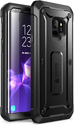 SUPCASE Unicorn Beetle PRO Series Design for Samsung Galaxy S9 Case, with Built-in Screen Protector Full-body Rugged Holster Case for Galaxy S9 (2018 Release) (Black)