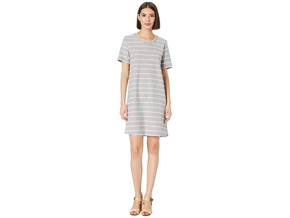 Mod-o-doc Short Sleeve T-Shirt Dress in Scalloped Jersey (Heather Grey) Women