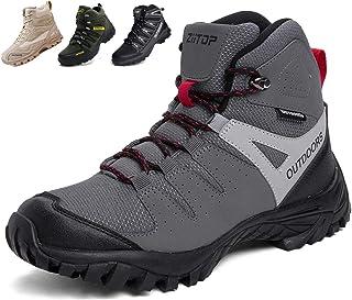 [Ziitop] トレッキングシューズ メンズ ハイキングシューズ 防滑 登山靴 耐摩耗 衝撃吸収 アウトドア キャンプ シューズ 通気性 スエード スニーカー ハイカット 大きいサイズ
