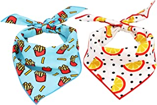 Dog Bandana FRENCH FRIES Fast Food Dog Bandana Summer Dog Bandana Food Bandana Bandana For Dog Cute Bandana Puppy Bandana(S)