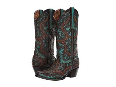 Corral Boots G1415 (Turquoise/Brown) Women