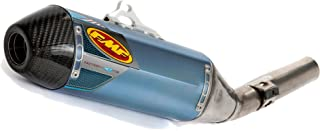 FMF 10-13 Yamaha YZ450F Factory 4.1 RCT Slip-On Exhaust (Blue Anodized Titanium with Titanium Mid Pipe and Carbon Fiber End Cap)