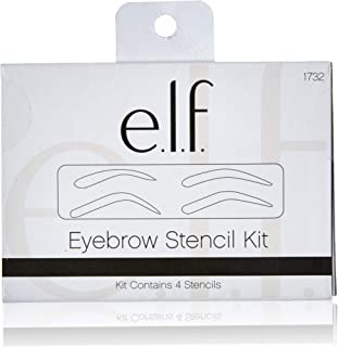 e.l.f. Cosmetics Eyebrow Stencil Kit for Perfectly Shaped Brows, Contains 4 Reusable Stencils