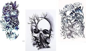 3 vellen SKULL tattoo ARM tattoo doodshoofd tattoo...