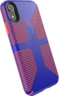 Speck Products CandyShell Grip iPhone XR Case, Cyber Blue/Grapefruit Orange