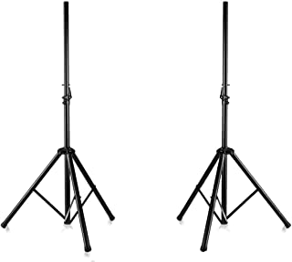 Pyle Universal Dual PA DJ Tripod 2 Speaker Stand Kit with Adjustable Height & Storage Bag Constructed with Heavy Duty Dura...