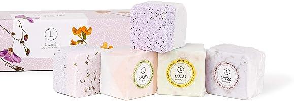 Shower Steamers, Relaxing Spa Gift Box, Natural Handmade Bath Salts Fizzies Set of 5, Handmade Moisturize Bath Bombs,...