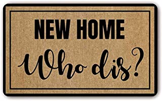 Keke's Home Funny Words Saying New Home Who dis, Polyester Front Door Mat Welcome Doormat for Home, Indoor, Entrance, Kitchen, Patio, Entry, Bathroom,23.6