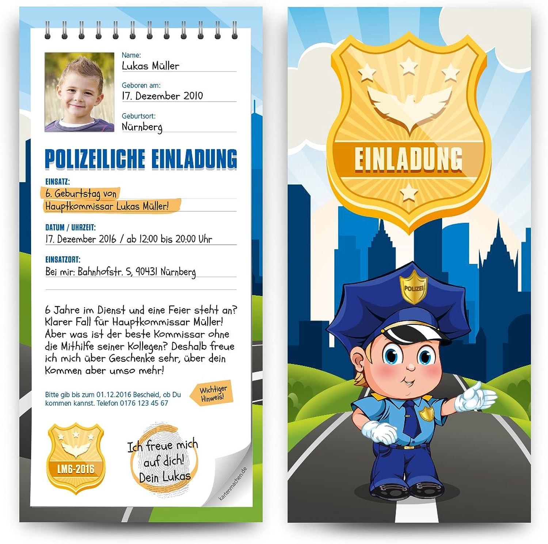Einladungskarten Kinder Kinder Kinder (50 Stück) Geburtstag als Polizei Notizblock Vorladung Einladung B01JIZ1G78 | Spielzeugwelt, fröhlicher Ozean  4dba61