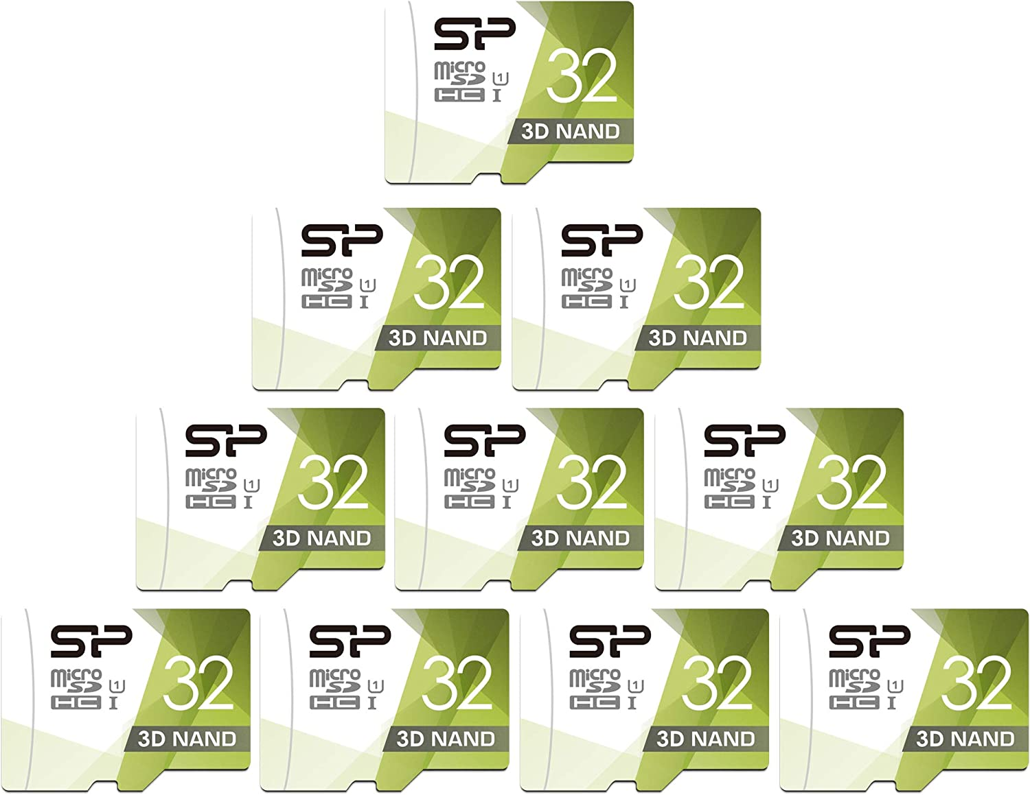 Silicon Power 32GB 10-Pack High Speed MicroSD Card with Adapter