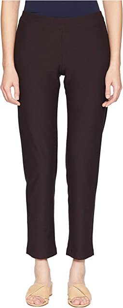 Washable Stretch Crepe Slim Ankle Pants with Yoke