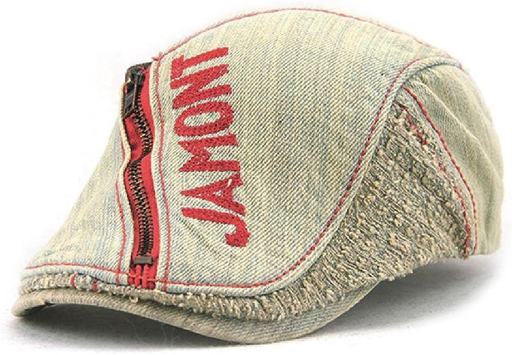 Women's Summer Casual Denim Cotton Sun Visor Hat Beret Newsboy Cap