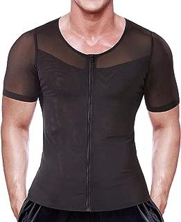 Mens Slimming Body Shaper Seamless Compression Shirt Tummy Control Slimmer Shapewear Gynecomastia Undershirt