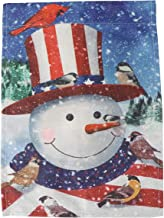 KESYOO Christmas Garden Flag Snowman Snowy Welcome Flag Bunting Banner for Seasonal Outdoor Courtyard Decor Style 2