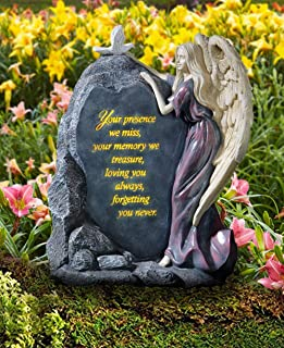 CT DISCOUNT STORE Honor The Loss of Your Love One with This Elegant Solar Memorial Angel (Garden Angel Memorial)