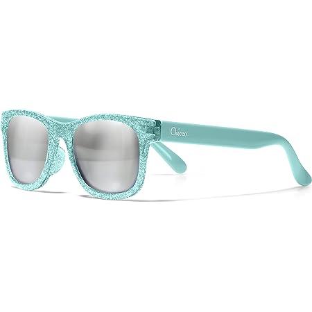 Chicco - Gafas de Sol Infantiles Para Niños De 2 años, Con Montura flexible y Lentes Anti Arañazos, Color Azul Transparente