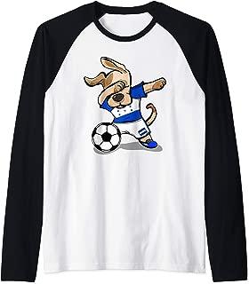 Dabbing Dog Honduras Soccer Jersey Honduran Football Team Raglan Baseball Tee