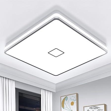 Plafonnier LED 24W Luminaire Salle de Bain 2050LM Blanc Froid 5000K Airand Lampe de Plafond Étanche IP44 Plafonnier Salon Applicable à Salle de Bain Chambre Cuisine Balcon Garage Ø32.5CM