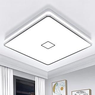 Plafonnier LED 24W Luminaire Salle de Bain 2050LM Blanc Froid 5000K Airand Lampe de Plafond Étanche IP44 Plafonnier Salon ...