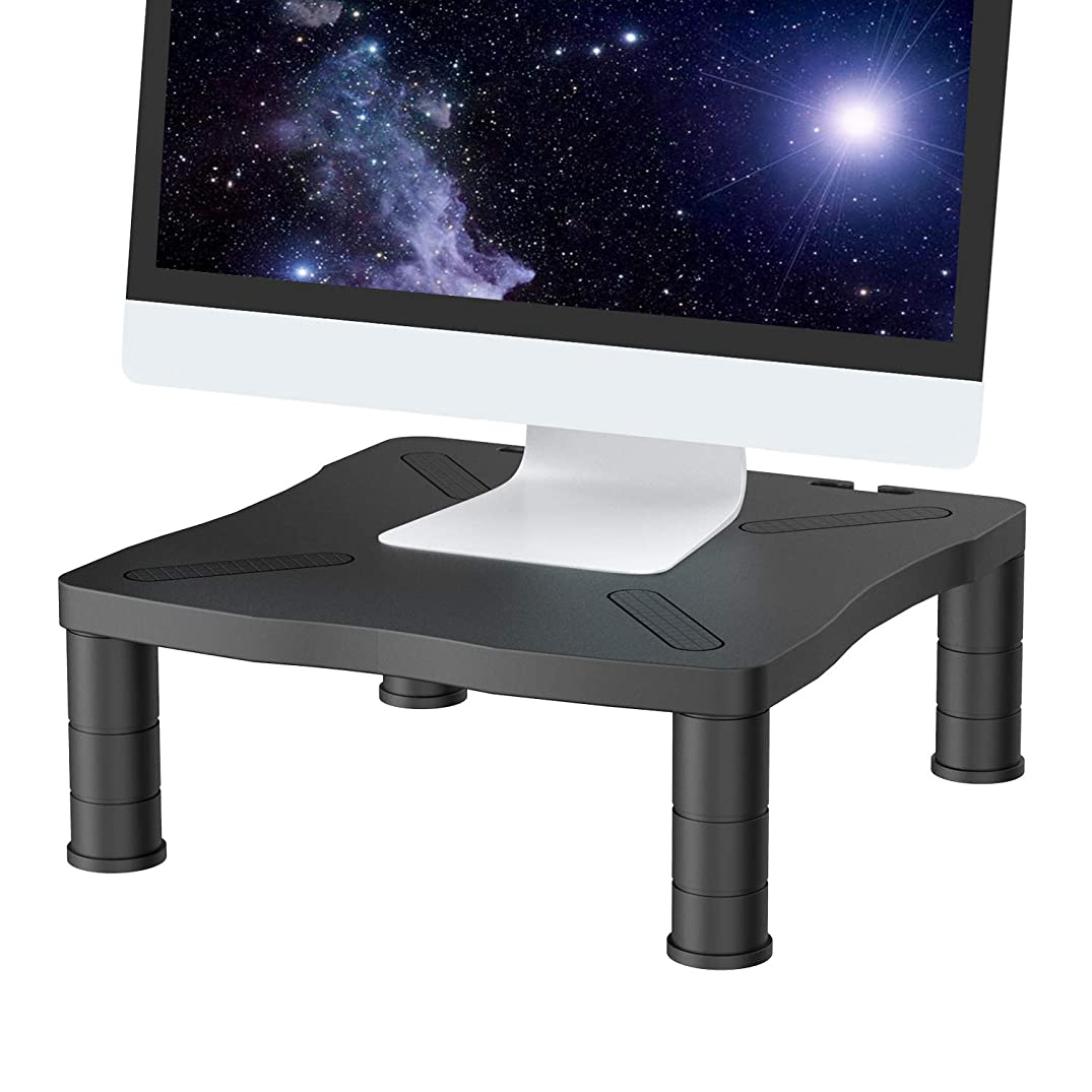 Monitor Riser Stand - 3 Height Adjustable Monitor Stand for Laptop,Computer, Screens with 13.2x13.2 Platform & 5.2 Inch Height by HUANUO