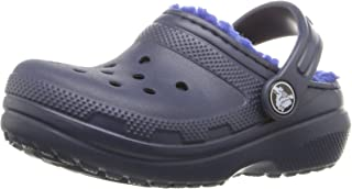 Crocs Boys Classic Lined Clog K, Navy/Cerulean Blue