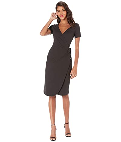 Unique Vintage Wrap Dress (Black) Women