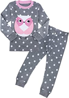 ZFBOZS Girls Pajamas 100% Cotton 2-Piece PJs Sets for Kids Toddler Clothes 2-8 Years