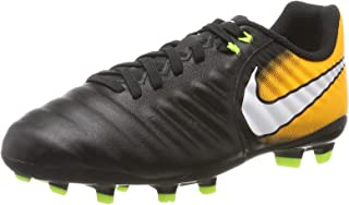 Kids Jr. Tiempo Ligera IV FG Soccer Cleat (Sz. 3Y) Black, Laser Orange