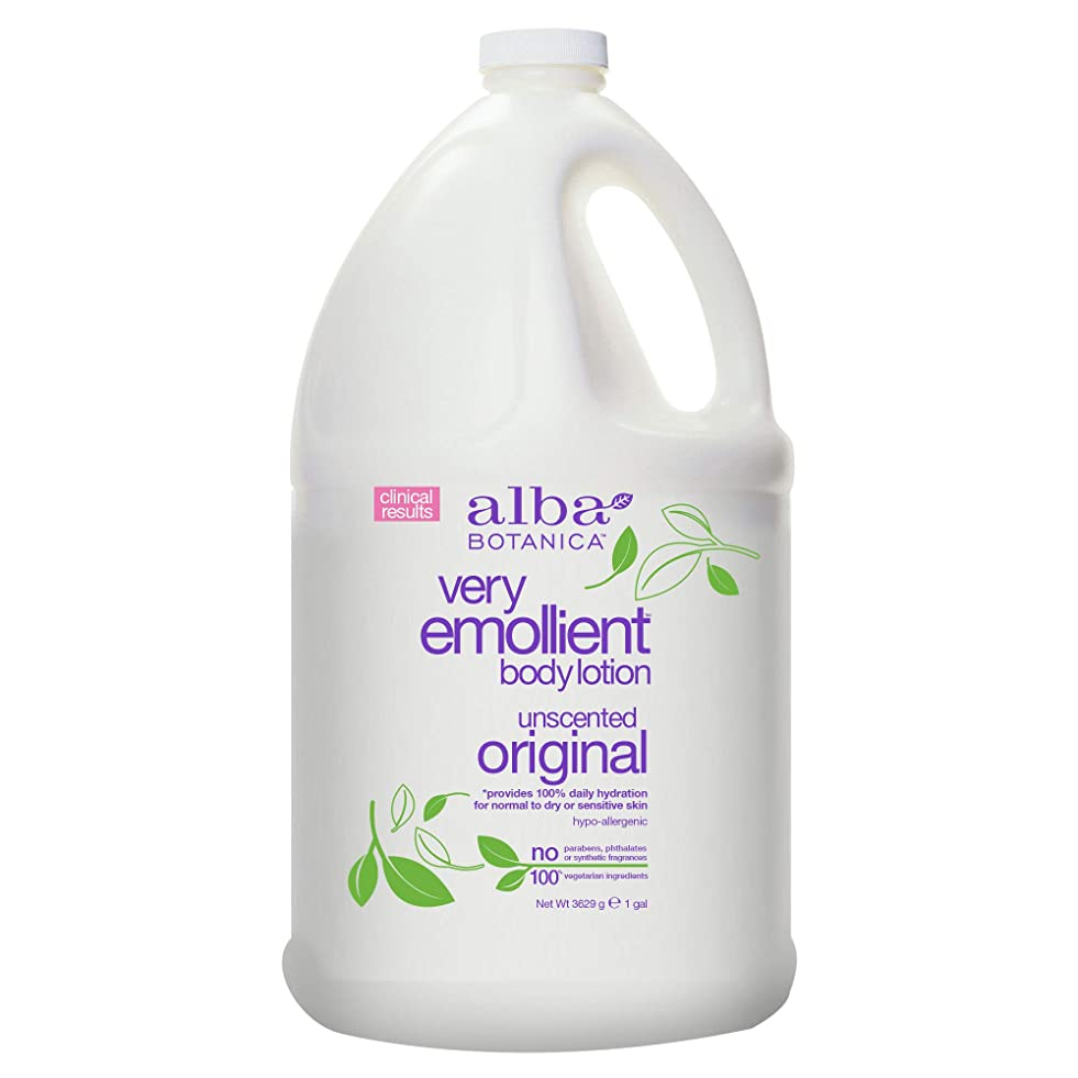 ストレスの多い金銭的な没頭するAlba Botanica Very Emollient Body Lotion Original Unscented - 1 Gallon