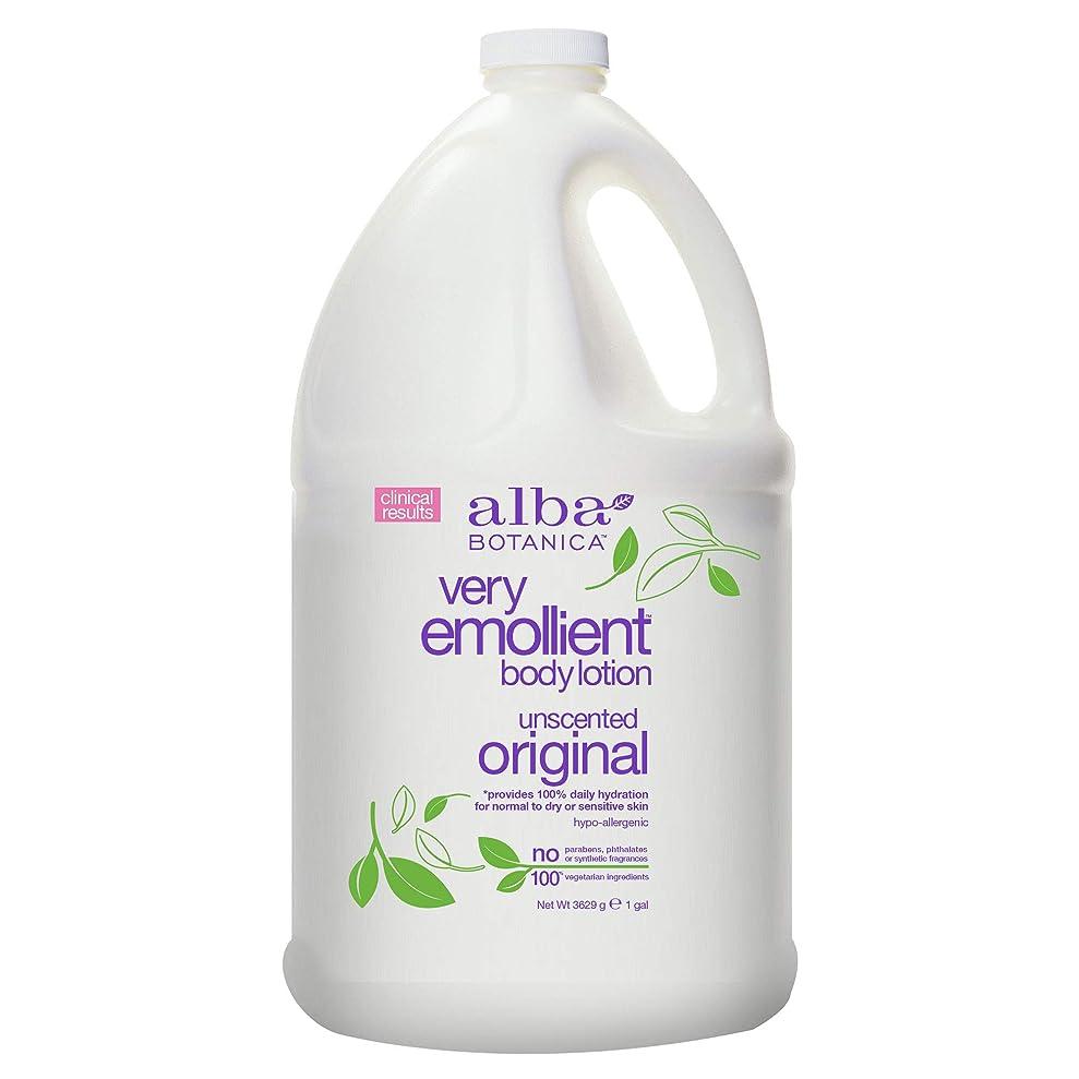 ピュー敬礼ラケットAlba Botanica Very Emollient Body Lotion Original Unscented - 1 Gallon