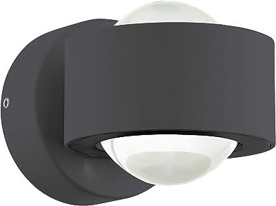 EGLO 96049 A++ to A, lámpara de pared, aluminio, integrado, antracita, 9 x 13 x 8 cm