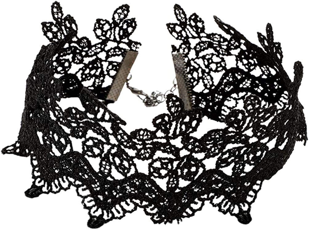 Holibanna Lace Choker Collar Black Gothic Choker Necklace Vintage Lace Choker Punk Lolita Victorian Style Lace Choker for Party Costume