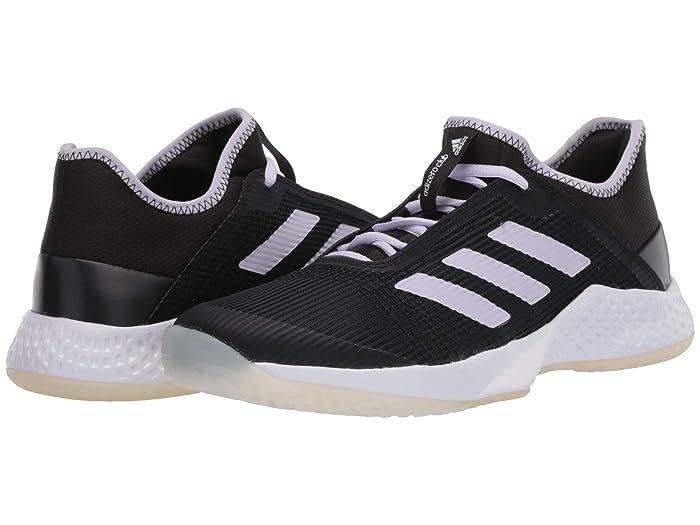 adidas  Adizero Club (Core Black/Purple Tint/Footwear White) Womens Tennis Shoes