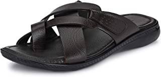 Burwood Men's Leather Flip Flops Thong Sandals