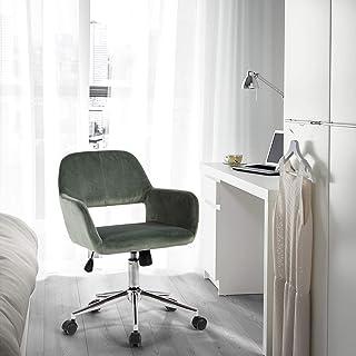FurnitureR Silla tapizada para Oficina en el hogar con Respa