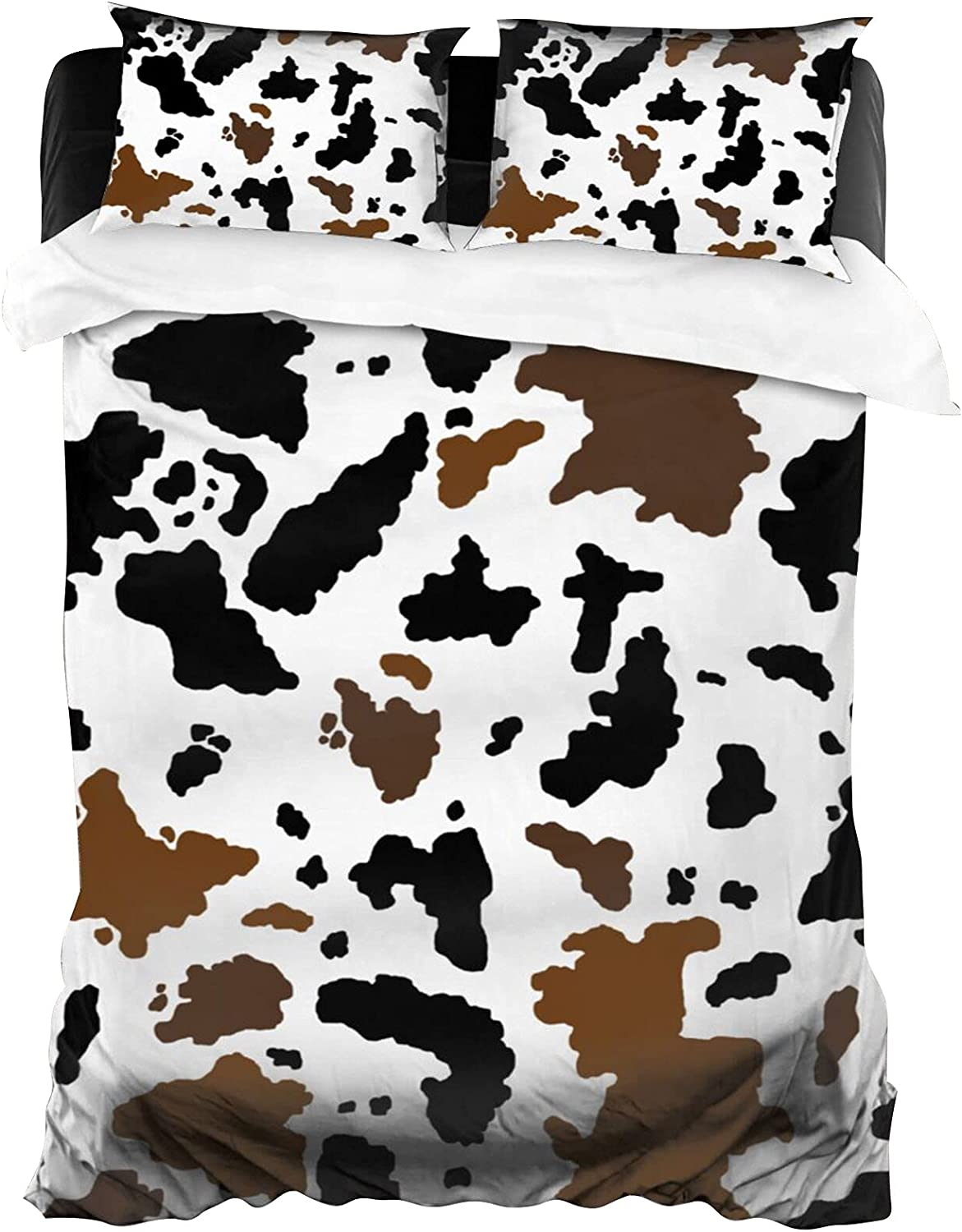BLUBLU Cow Super Soft Duvet Cover Beauty NEW before selling products Bed Comforter Zip Set with