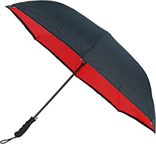 CTM Auto Open Inverted Stick Umbrella with Carrying Strap
